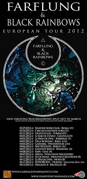 Black Rainbows/Farflung - European Tour 2012 poster