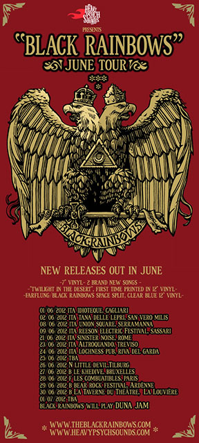 Black Rainbows - June 2012 Tour poster