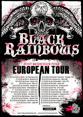 Black Rainbows - European Tour December 2012 poster