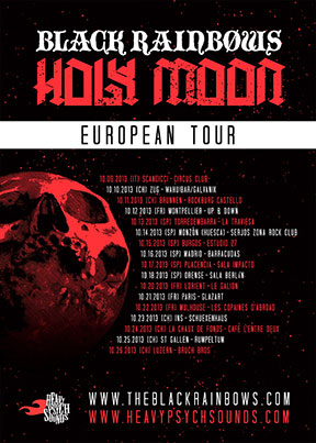 Black Rainbows Holy Moon - European Tour 2013 poster