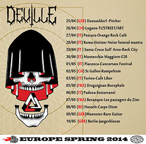 Deville - April/May 2014 tour poster