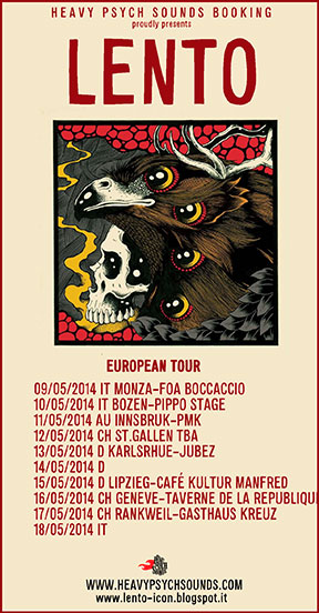 Lento - European Tour May 2014 poster
