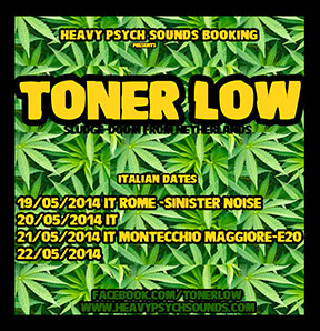 Toner Low - May 2014 tour poster