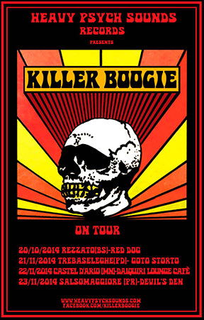 Killer Boogie Mini Tour poster - November 2014