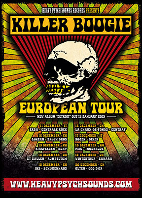 Killer Boogie European Tour poster - December 2014