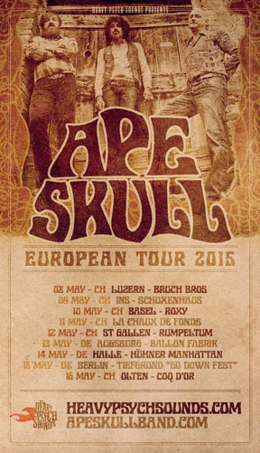 Ape Skull European Tour poster - May 2015
