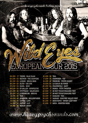 Wild Eyes European Tour poster - June 2015