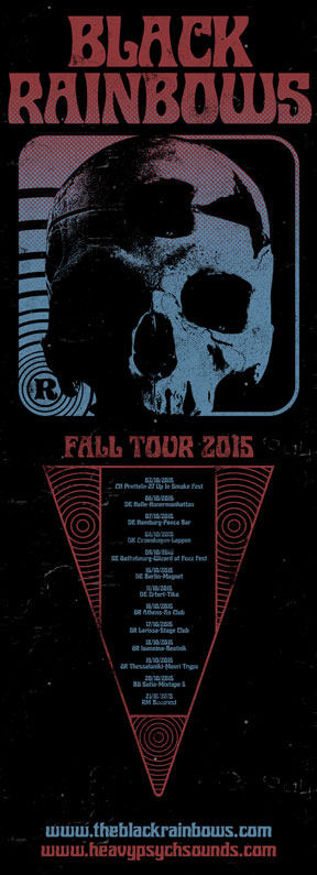 Black Rainbows - Fall Tour 2015 / Poster #02