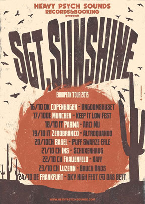 Sgt.Sunshine - European Tour 2015