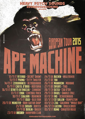 Ape Machine - European Tour 2015