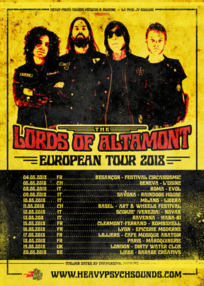 The Lords Of Altamont - European Tour 2018